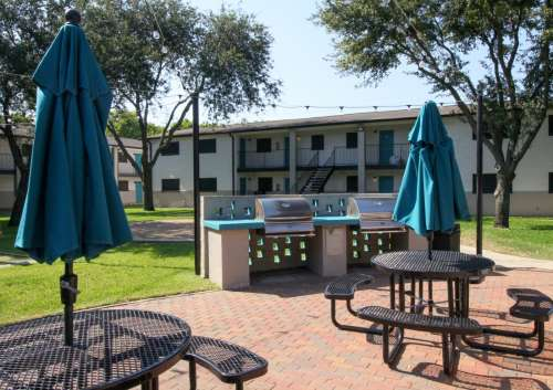 Picnic Tables and Gas Grills